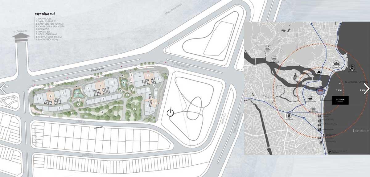 Quy hoạch Tổng thể Dự án Căn hộ The Aston Luxury Residence Nha Trang trong Khu đô thị Cồn Tân Lập
