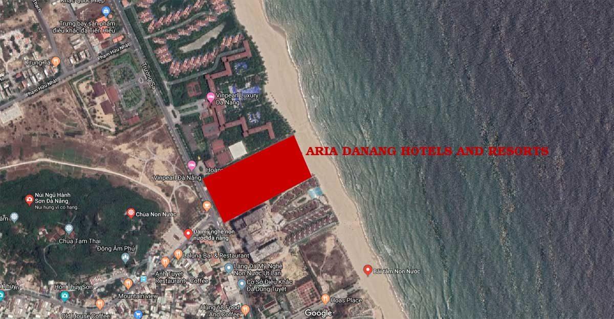 Vị trí Dự án Căn hộ Condotel Aria Đà Nẵng Hotel And Resort