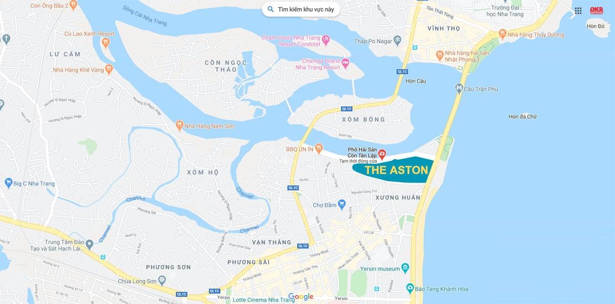Vị trí Dự án The Aston Luxury Residence Nha Trang trên Google Maps