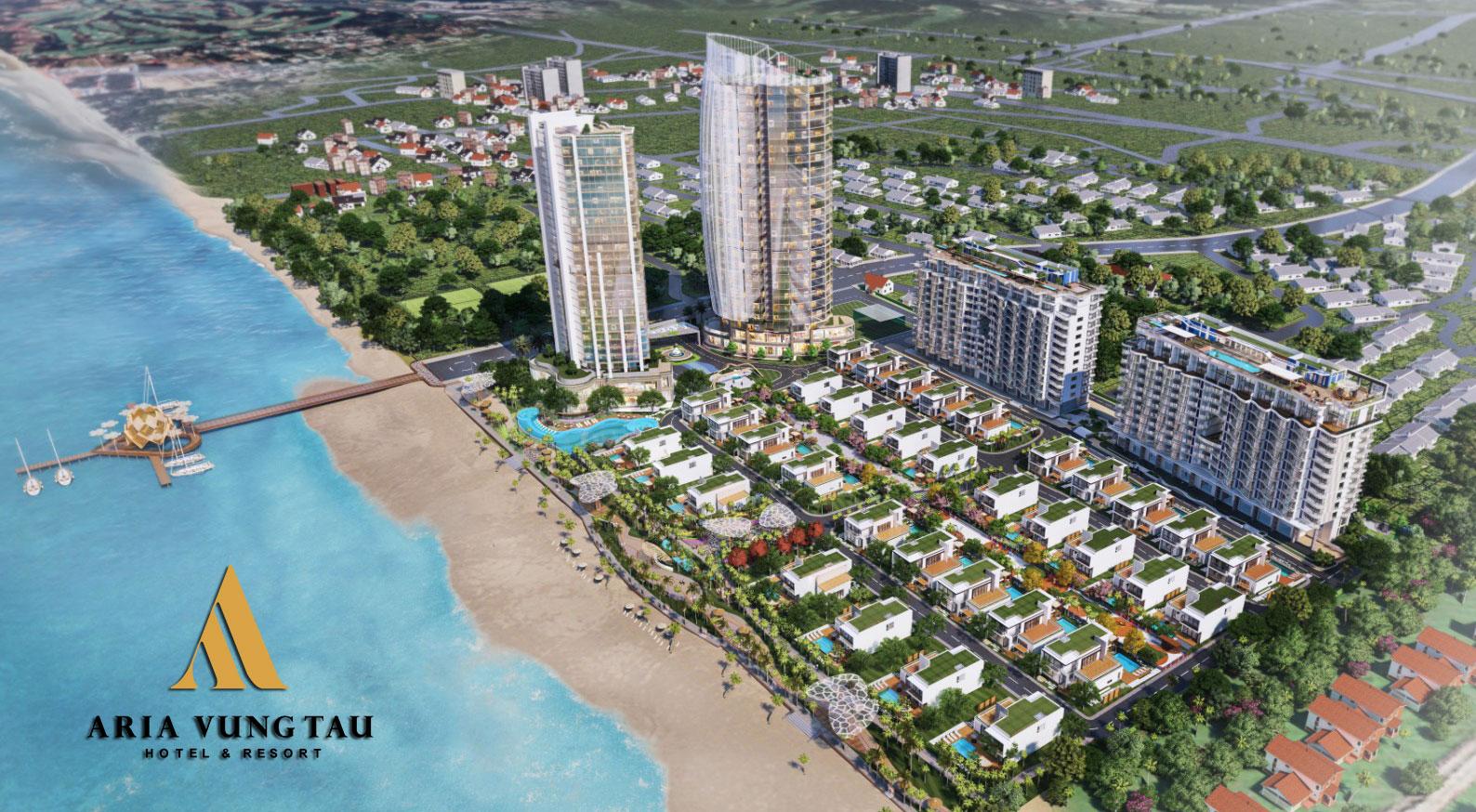Phối cảnh dự án Aria Vũng Tàu Holtel & Resort